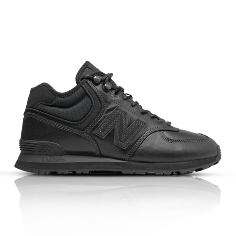 online store 85644 fc71a New Balance Men's 574 Mid Black Sneaker