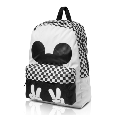 1180ace5e6 Disney x Vans Mickey Mouse 90th Anniversary Realm White Black Backpack