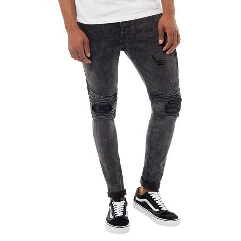 812d6525218 Redbat Men s Charcoal Biker Super Skinny Jeans