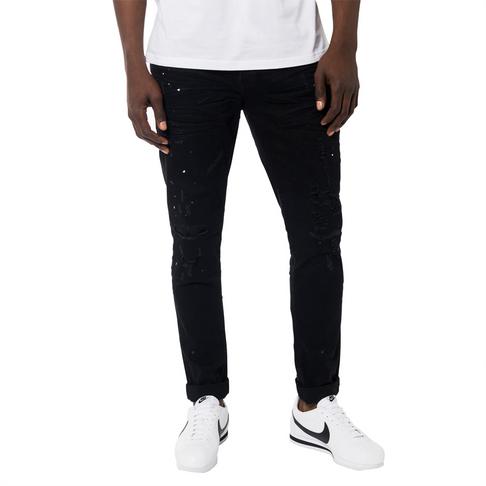 16f09a5e Redbat Men's Black Slim Straight Leg Jeans