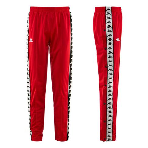 f1b3e88f69b Kappa Banda 222 Astoria Men's Slim Fit Red/White Track Pants