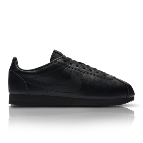 finest selection 0b93a 4bf46 Nike Men's Classic Cortez Leather Black Sneaker