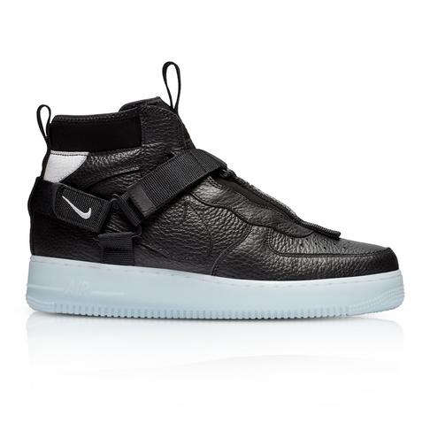 super popular 2d6a1 9b8a5 Nike Men's Air Force 1 Utility Mid Black Sneaker