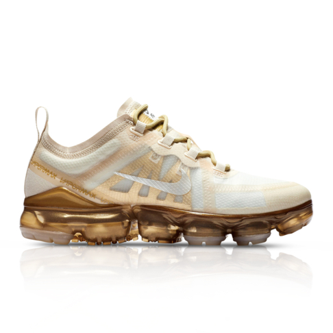 super popular e718e ca213 Nike Women's Air Vapormax 2019 White/Gold Sneaker