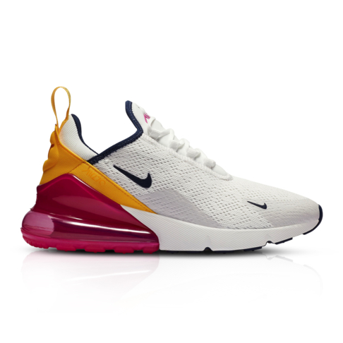 info for a1719 b362b Nike Women's Air Max 270 White/Orange Sneaker