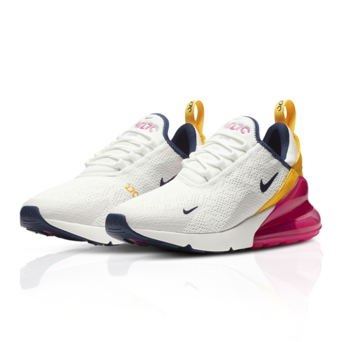 info for 994c3 d07d8 Nike Women's Air Max 270 White/Orange Sneaker