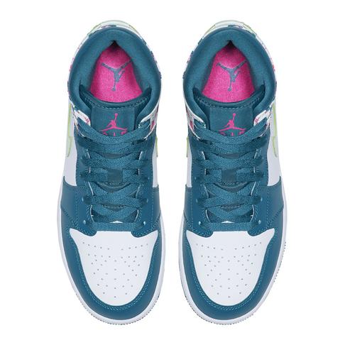 sports shoes 3f1f5 f0f7f Air Jordan Junior 1 Mid Blue/White Sneaker