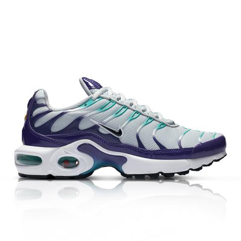 innovative design 1681e a0ead Nike Junior Air Max Plus Grey/Purple Sneaker
