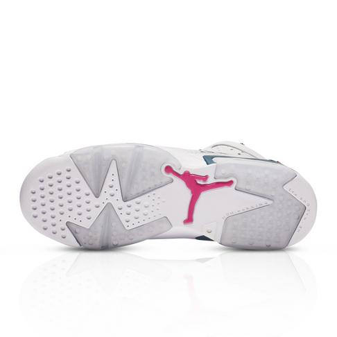 new arrival 870bf b0d6c Air Jordan Junior Retro 6 White/Pink Sneaker