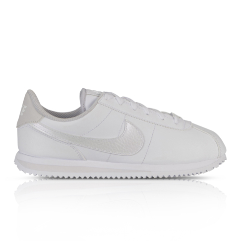 buy online b60ac c7ad3 Nike Junior Cortez Basic White/Silver Sneaker