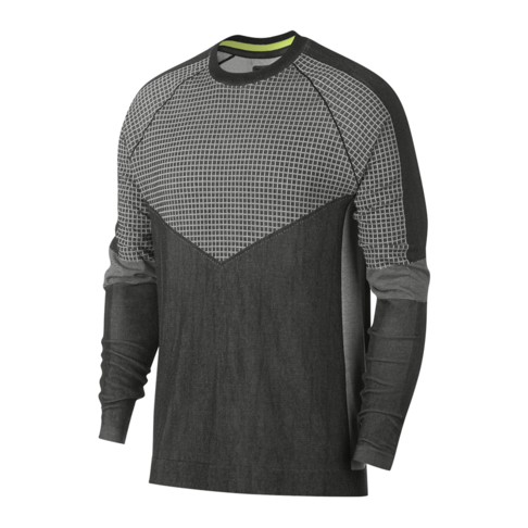 bcde813c Nike Sportswear Men's Tech Pack Black/White Long Sleeve Knit Sweater