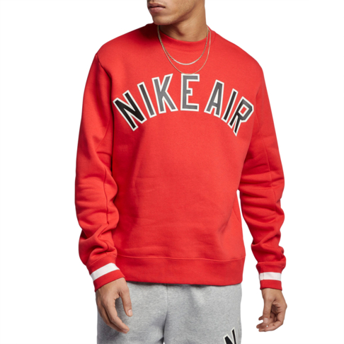 75f8fe0ec88c Nike Air Men s Red Fleece Crew Sweater