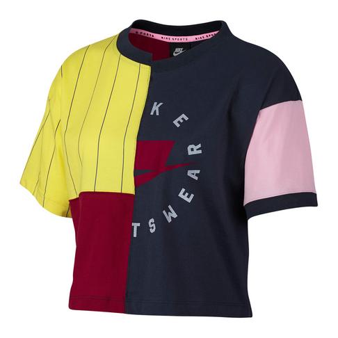 b486c76b8db Nike Sportswear NSW Women's Navy Short-Sleeve Top
