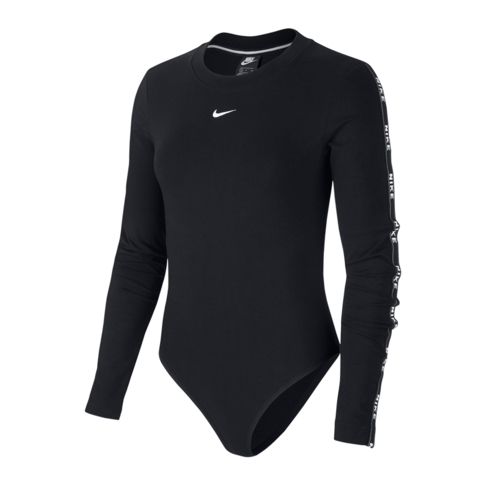 ba2c6ad38f901 Nike Sportswear Women's Black Long-Sleeve Body Suit