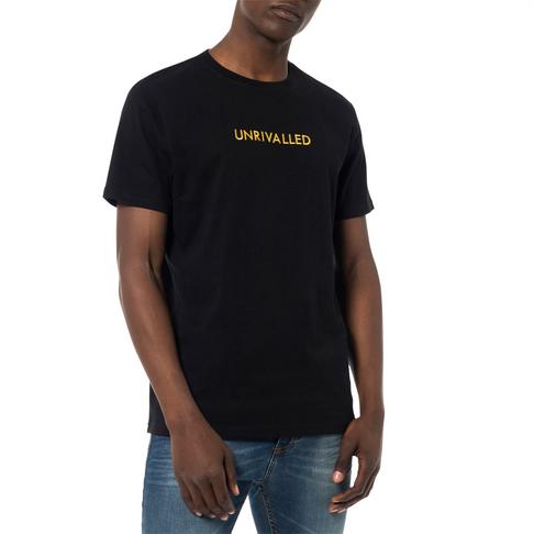 4791fd0ec756e Redbat Men's Black Unrivalled Embroidered Graphic T-shirt