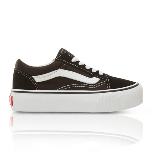 ba668905ac1 Vans Kids Old Skool Platform Black White Sneaker