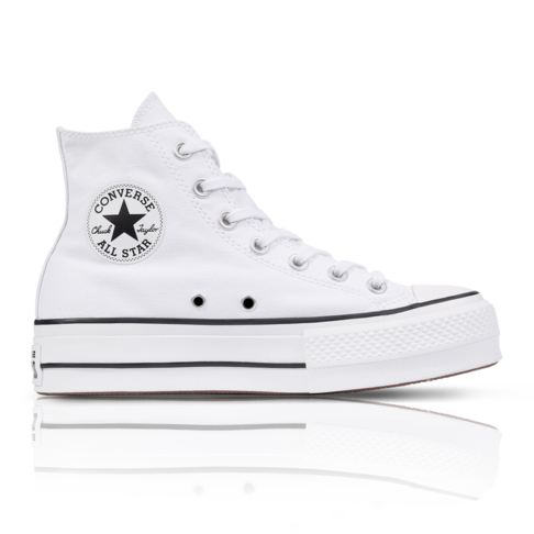 Converse Women s Chuck Taylor All Star Lift High White Sneaker 46044117c