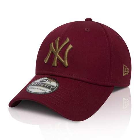848d4afe46342a New Era New York Yankees 39Thirty Burgundy Cap