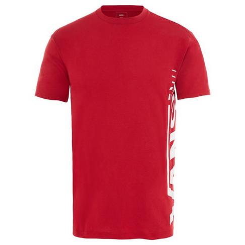 5e213647 Vans Distorted Short Sleeve Men's Red T-Shirt