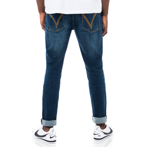 8680ce013eac Redbat Men's Dark Wash Slim Straight Leg Jeans