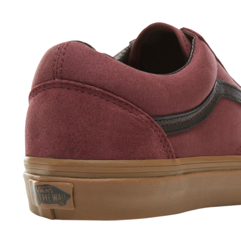 Vans Men s Suede Gum Old Skool Burgundy Sneaker 58f758f7f