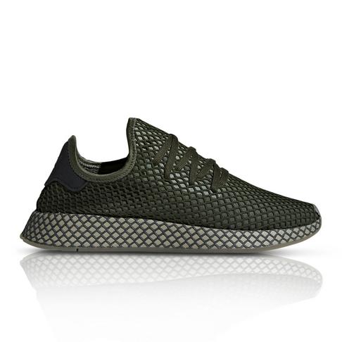 premium selection 7255d 379da adidas Originals Mens Deerupt Runner Mono Green Sneaker