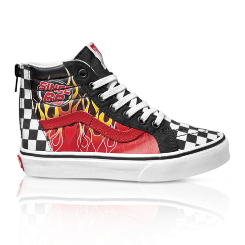Vans Kids Sk8-Hi Flames Zip Sneaker c92525315