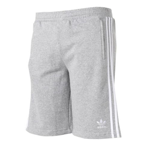 76aca70682aef adidas Originals Men's Grey/White 3 Stripe Shorts