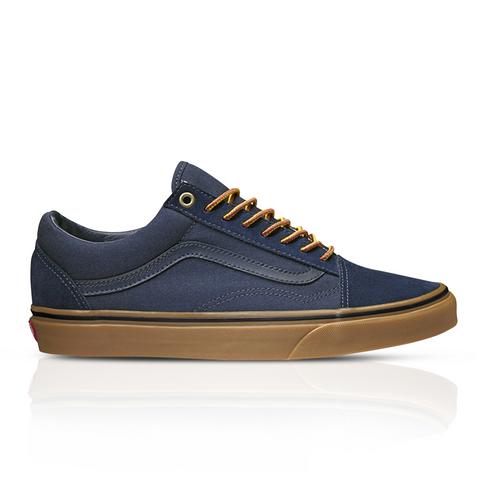 39f240299d50f3 Vans Men s Suede Gum Old Skool Blue Sneaker