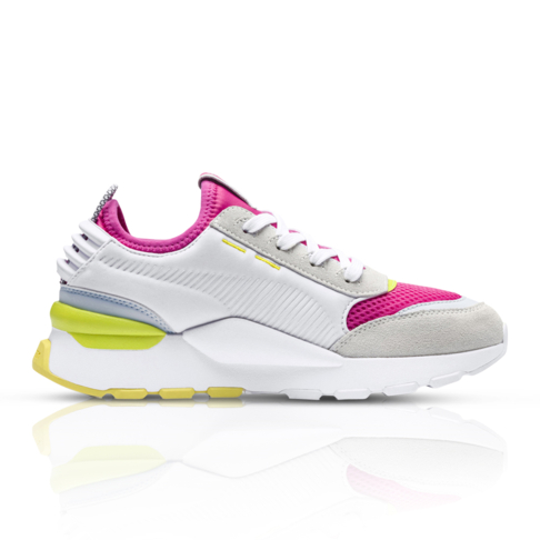 low priced 32a91 d3f8d Puma Women s RS-0 Toys White Pink Sneaker