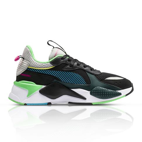 806b8cd00d993e Puma Women s RS-X Toys Black Green Sneaker