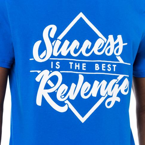 Redbat Men's Triangle Success Is the Best Revenge Graphic Crew Neck T-Shirt