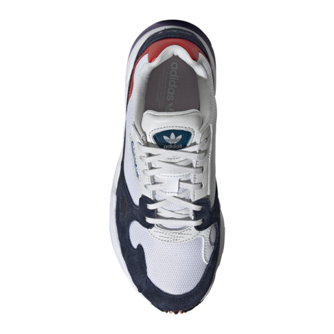 Adidas Originals Women S Falcon White Navy Sneaker