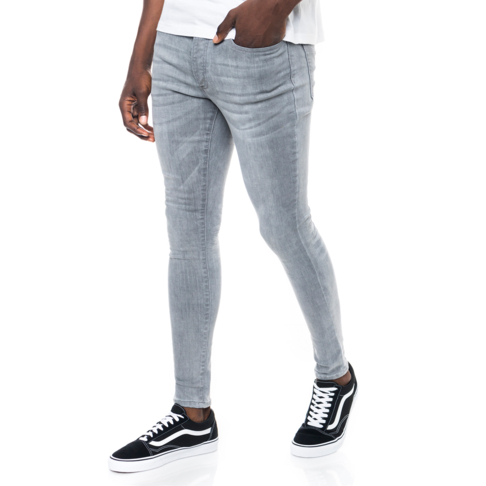 cefb2a3f46d Redbat Men s Grey Spray On Skinny Jeans