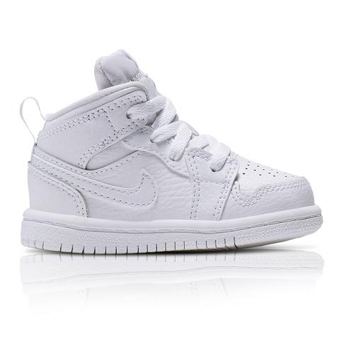 pretty nice 4c1c2 19a86 Air Jordan Toddlers 1 Mid White Sneaker