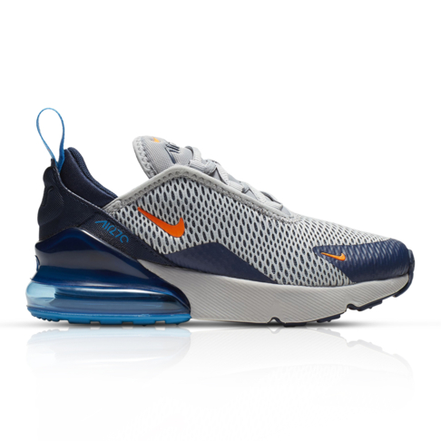 super popular a3bc8 40610 Nike Kids Air Max 270 Grey/Orange Sneaker