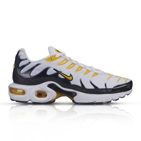 buy popular 08755 afa24 Nike Junior Air Max Plus White/Yellow Sneaker