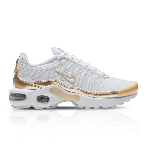 sale retailer 3f548 c9e7d Nike Junior Air Max Plus EP White/Gold Sneaker