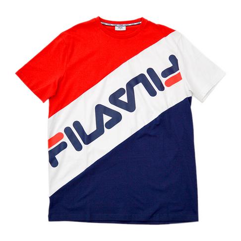 remise spéciale meilleur endroit pour france pas cher vente Fila Men's Red/White/Navy Titus T-Shirt
