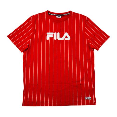large éventail fournisseur officiel sortie en ligne Fila Men's Red/White Stripe Troy T-Shirt
