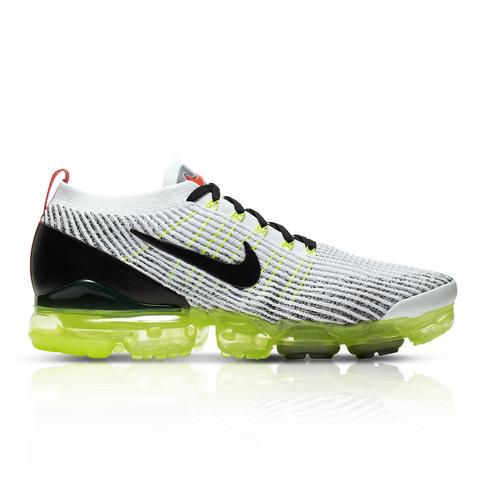 Nike Men S Air Vapormax Flyknit 3 Volt Pack White Sneaker