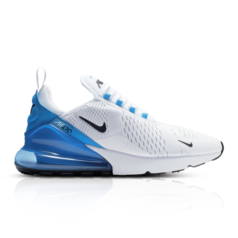 buy online 4825f ccbaf Nike Men's Air Max 270 White/Blue Sneaker