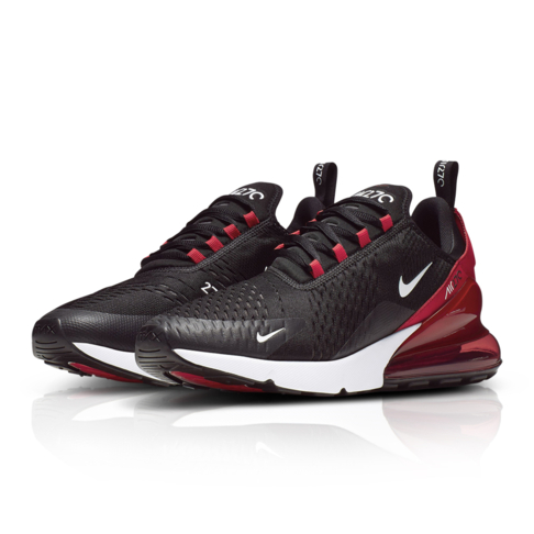 hot sale online 3c7bb 62e0d Nike Men's Air Max 270 Black/Red Sneaker