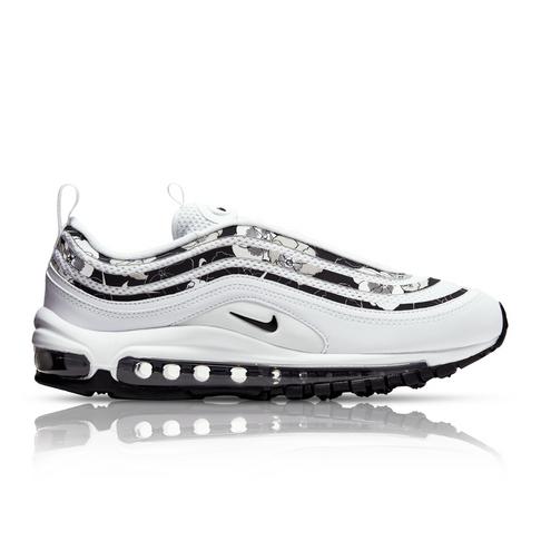cheaper 517b6 f73c9 Nike Women's Air Max 97 SE Floral White/Black Sneaker