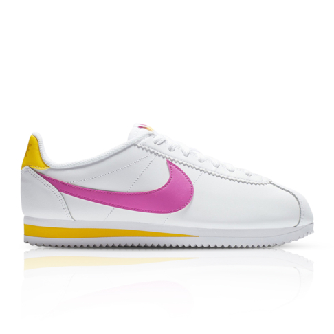 huge selection of 43ac2 4470d Nike Women's Classic Cortez White/Pink Sneaker