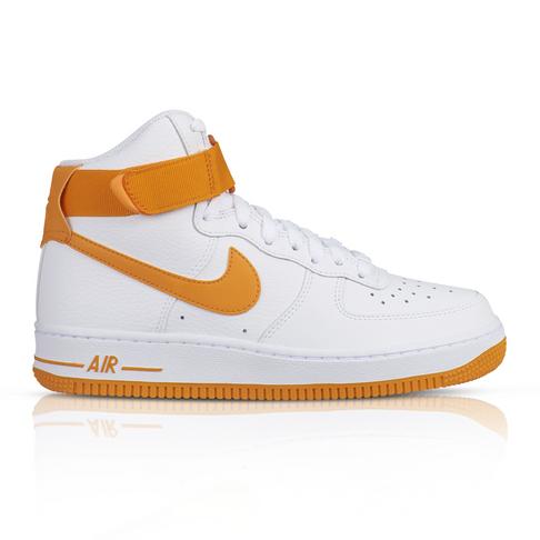 pretty nice b1bd1 5288e Nike Women's Air Force 1 High White/Orange Sneaker