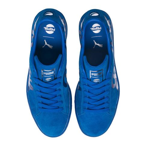 on sale 39f3a 665dc Puma x Pepsi Men's Suede Classic Blue Sneakers