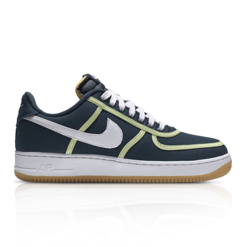 tout neuf c4487 315cf Nike Men's Air Force 1 '07 Premium Navy/Green Sneaker