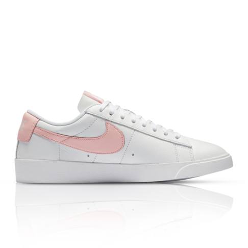 new concept fb2d4 58e58 Nike Women s Blazer Low White Pink Sneaker