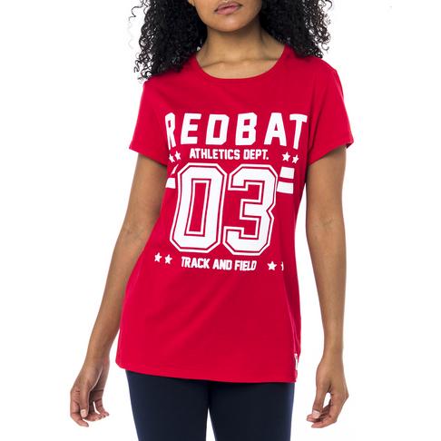 1b31ec155 Redbat Athletics Women's Red 03 Graphic T-Shirt